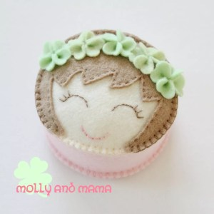 Miss Lucky Molly pin cushion by Molly and Mama