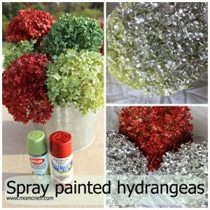 Spray paint hydrangeas.