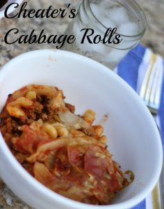 Cheater's cabbage rolls. Easy and tasty!