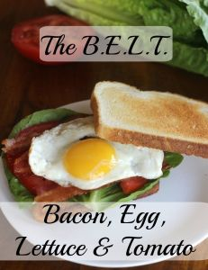 The BELT Sandwich. Bacon, Egg, Lettuce & Tomato