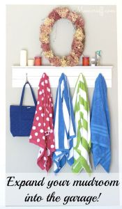 Expand your mudroom into the garage!