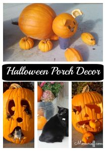 Halloween. Lots of different pumpkins on our porch over the years. Some ideas you can use for your Jack-o-Lantern!