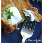 Potato pancakes. An easy, inexpensive side dish. A delicious way to serve potatos!