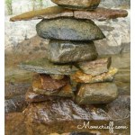 Inuksuk - a landscaping feature.