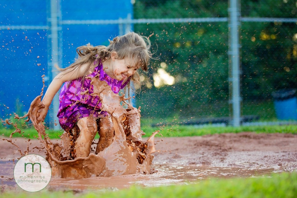 Cornwall Ontario Documentary Family Photographer - mud puddle