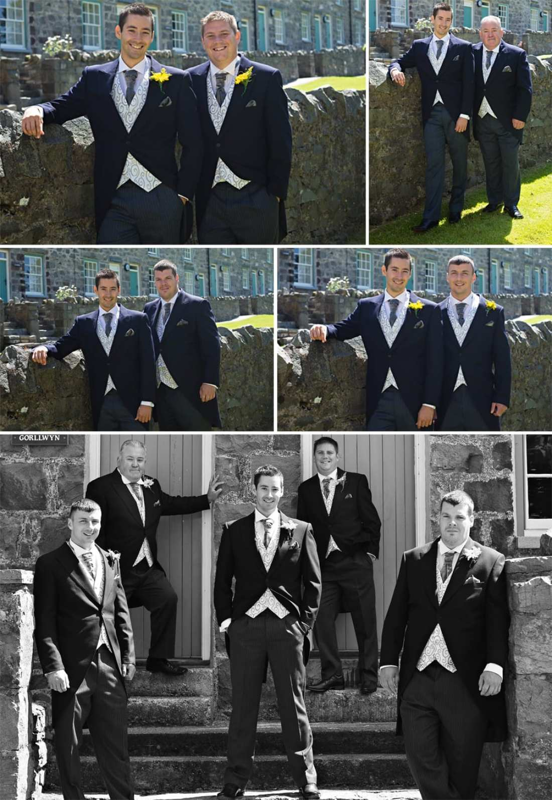 North Wales wedding - guys in morning suits