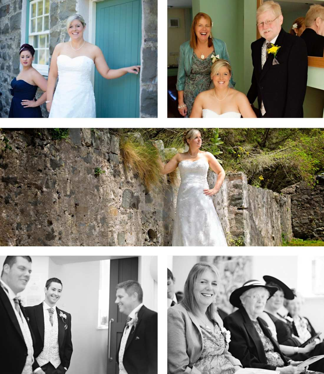 North Wales wedding - bride with mother and father