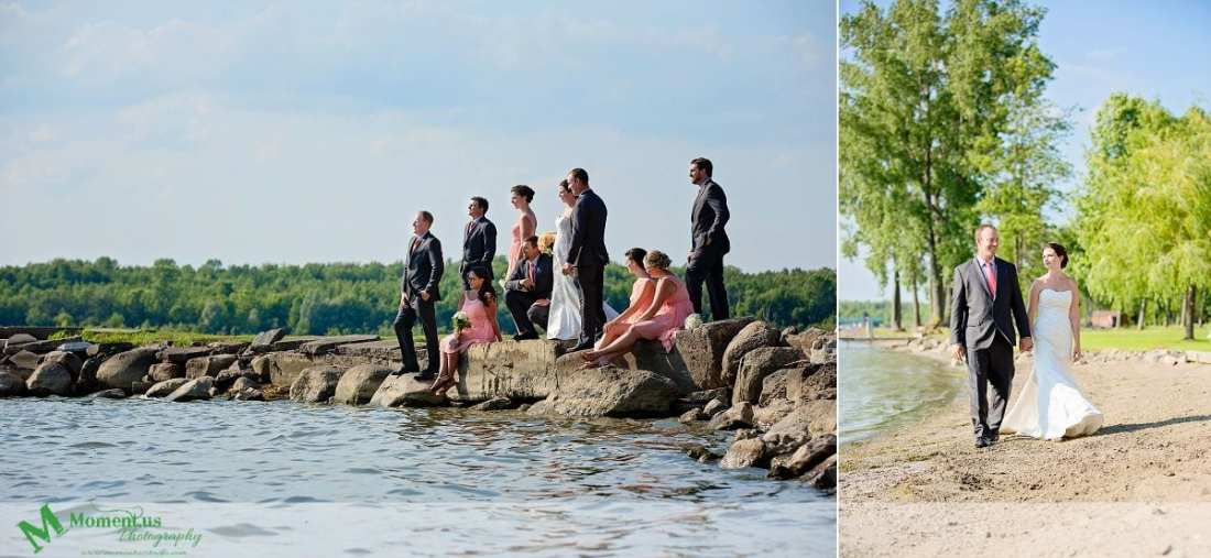 Outdoor Cornwall Wedding - bride and groom walking along shoreline