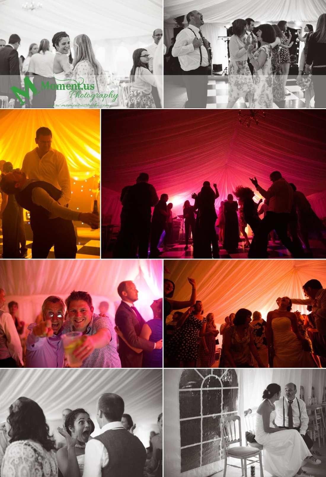 Fort Belan Wedding - dancefloor silhouettes