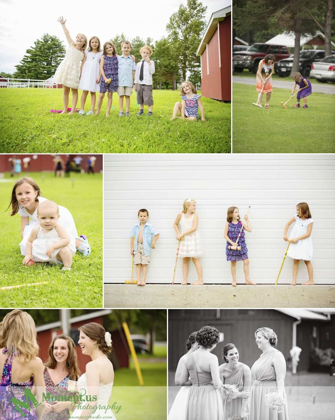 Williamstown Country Wedding - kids with croquet mallets