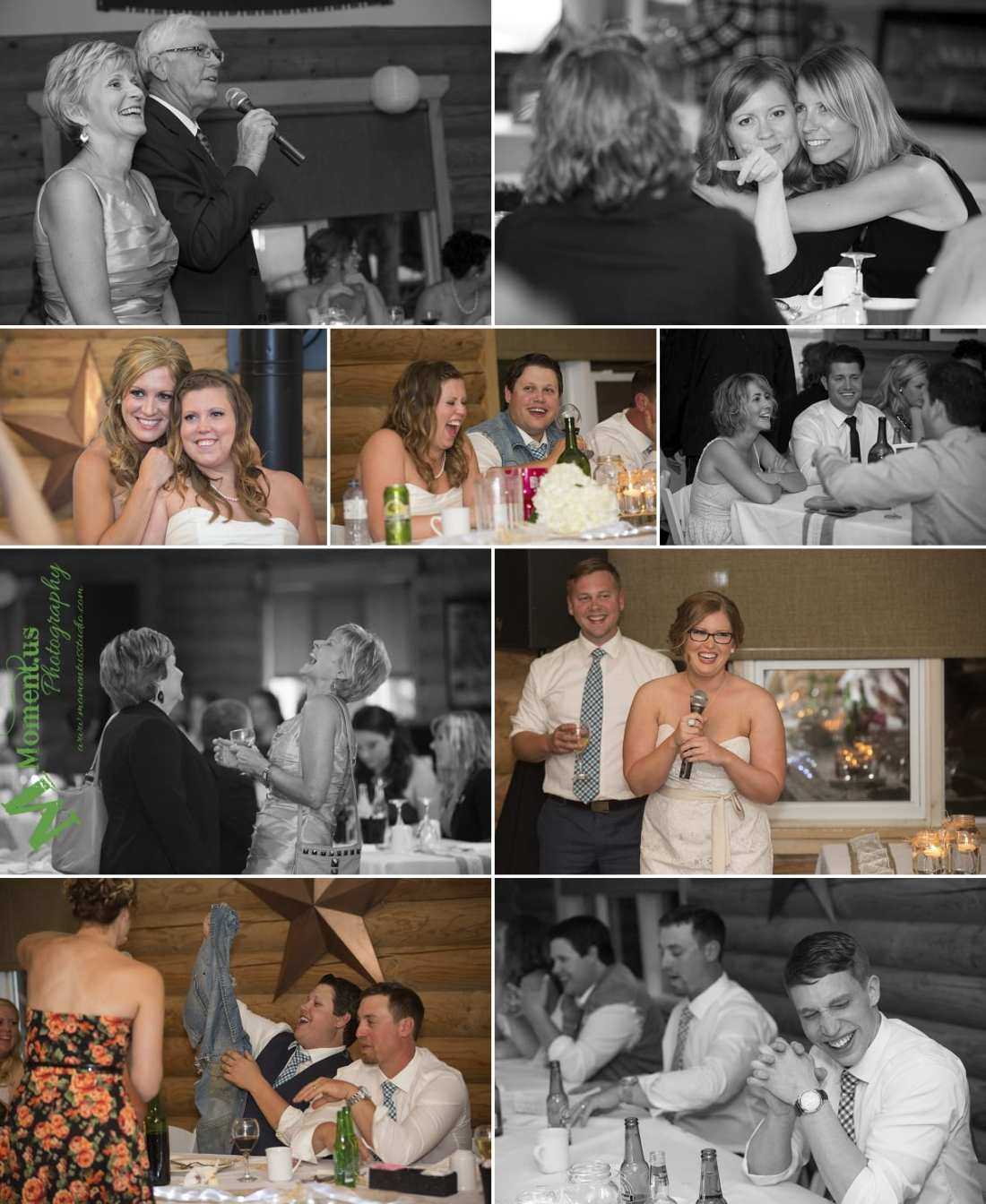 rustic country wedding photos - mother and father making speech