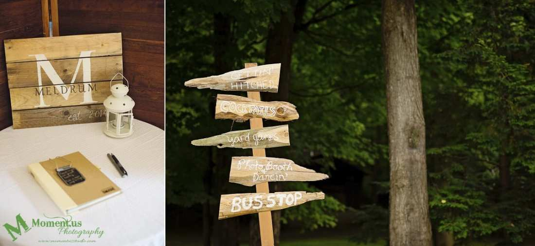 rustic country wedding photos - wooden sign