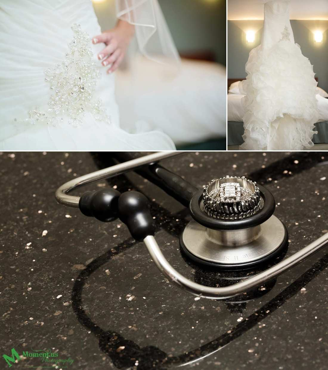stethoscope and rings for NAVCentre wedding - Cornwall wedding photographer