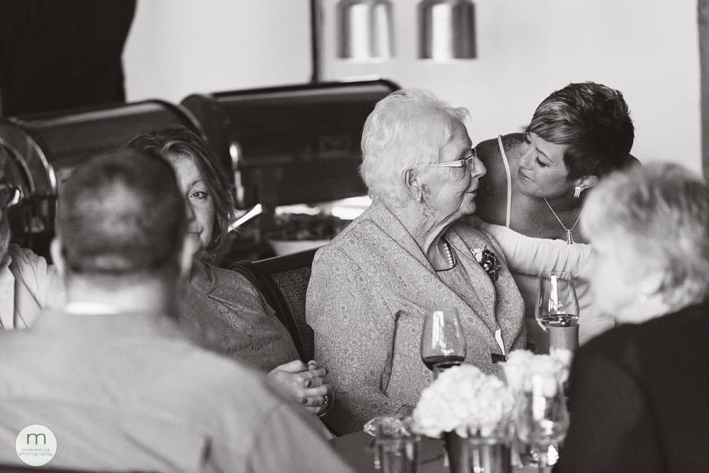 bride with grandma