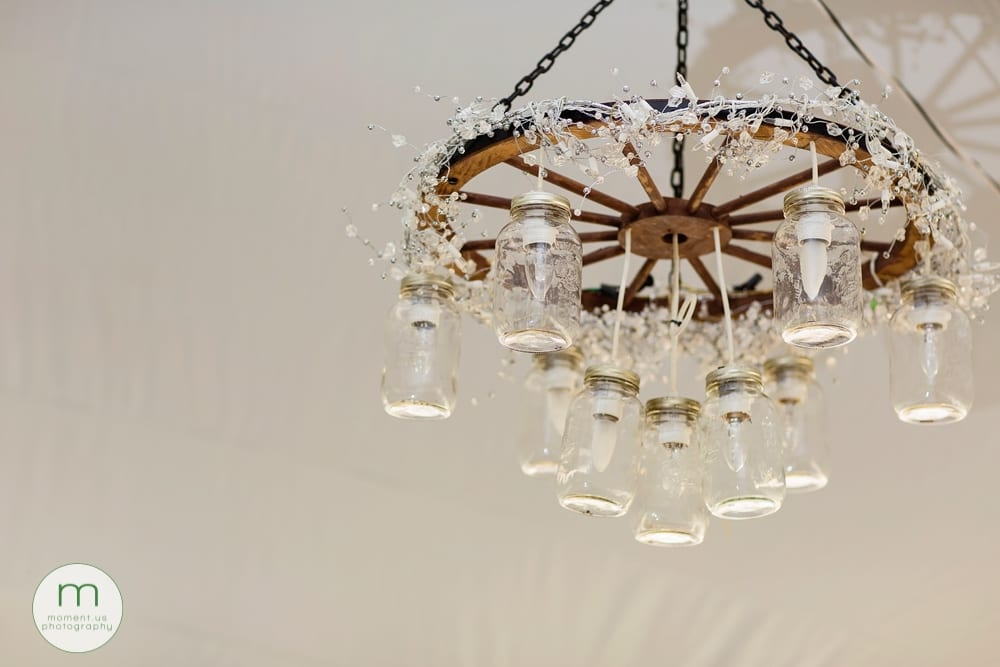 Cornwall rustic country wedding chandelier