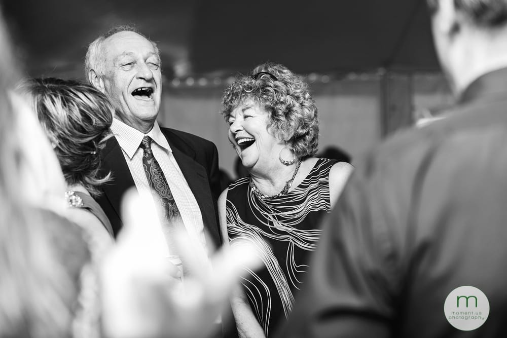 Cornwall Rustic Country Wedding - older couple laughing together
