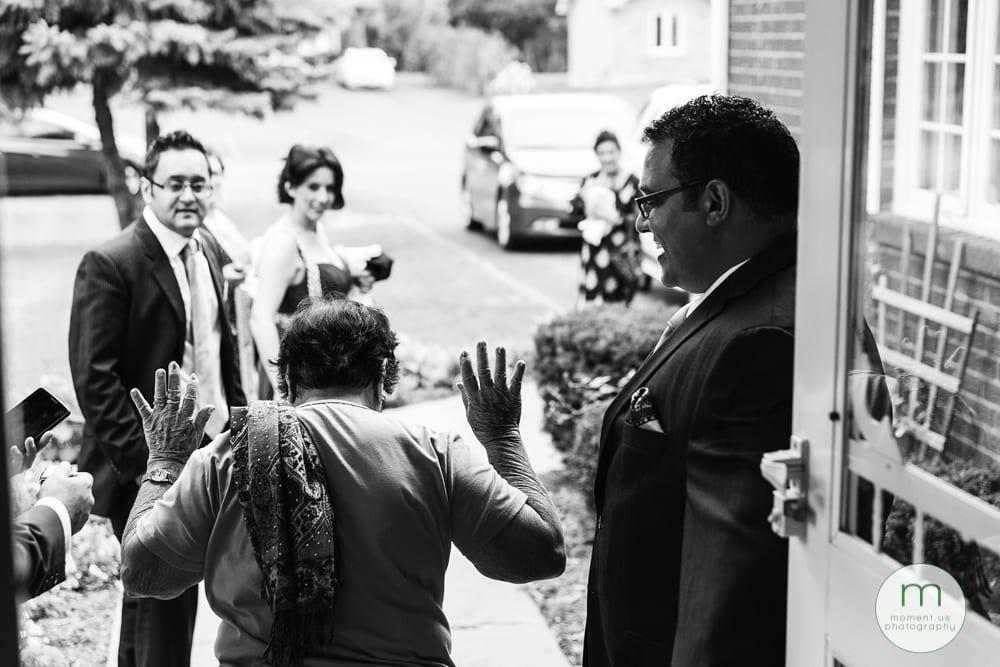 groom's grandmother doesn't need help
