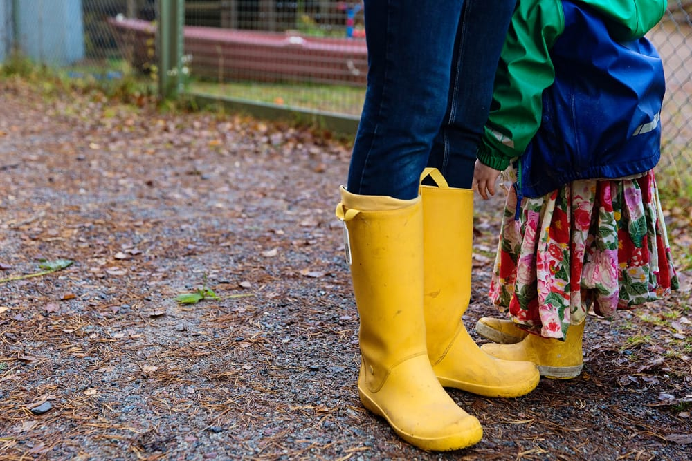 Stockholm mother and daughter's rubber boots