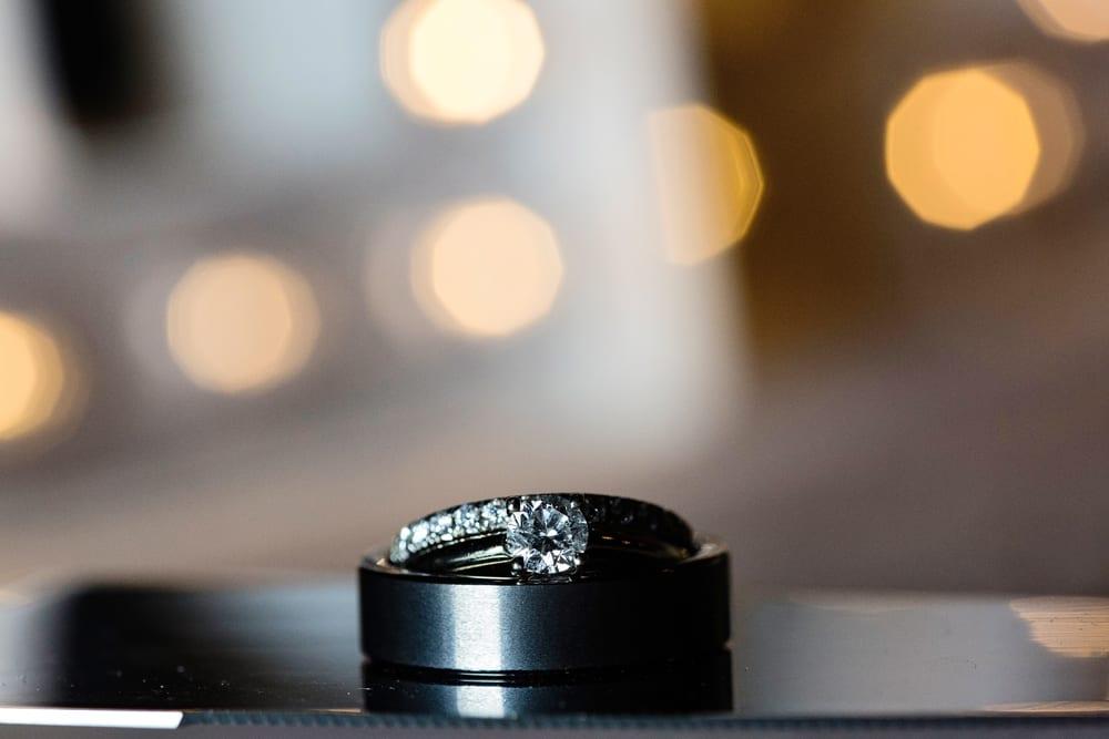 Cornwall wedding photographer shot of rings