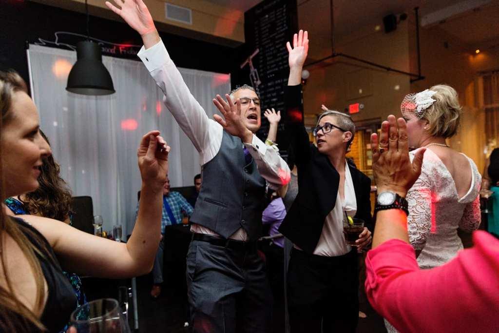 chic cornwall wedding guests dancing at reception