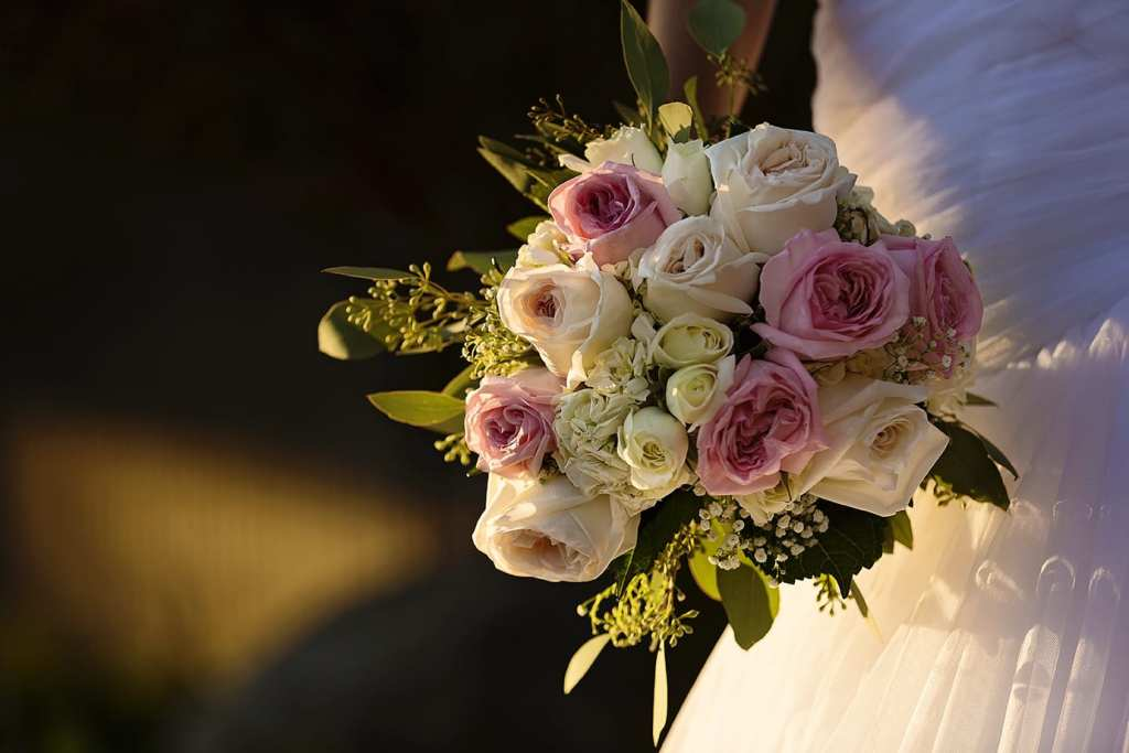Blooms Cornwall bridal bouquet