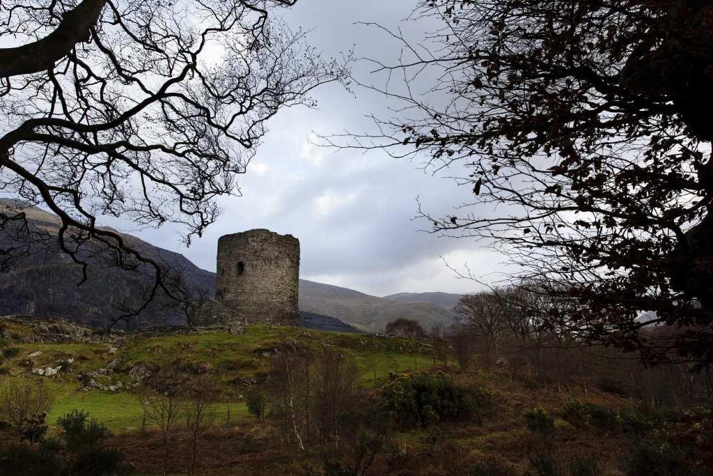 Llanberis castle in Snowdonia National Park