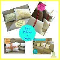 Easy DIY Pillows 4 Ways