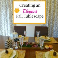 Holiday Craftacular Link Up: Elegant Fall Tablescape