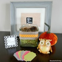 Holiday Craftacular Blog Hop & Linky: Give Thanks Display