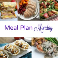Meal Plan Monday (November 21) ) -- Turkey Dinner and Ham Paninis