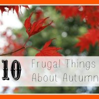 Ten Frugal Things About Autumn