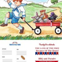 Fourth of July Menu Plan Plus Free Printables