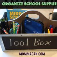 The Homework Tool Box - Organize School Supplies