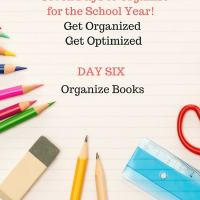 Back to School- Organize Books