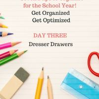Back To School - Organize to Optimize - Child's Bedroom Dresser Drawers