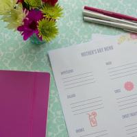 Mother's Day Brunch Menu Planner -Free Printable