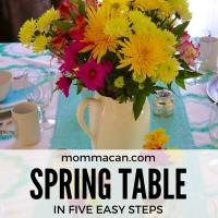How To Create A  Beautiful Spring Table  In Five Easy Steps