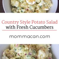 Country Style Potato Salad with Fresh Cucumbers