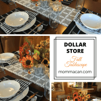 Dollar Store Fall Tablescape