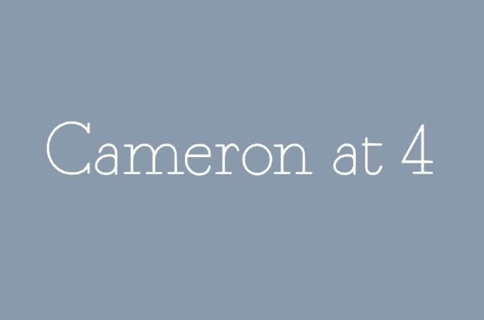 Cameron at 4
