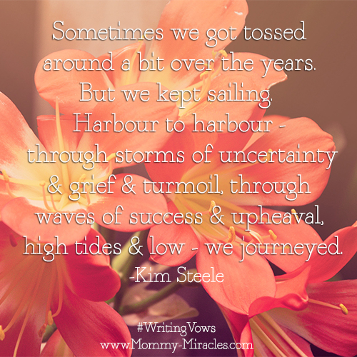 Seafaring Marriage Quote by Kim Steele