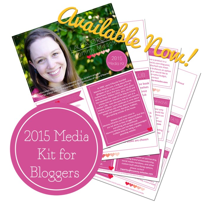Media Kit for Bloggers   Mommy Miracles
