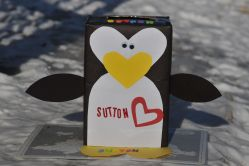 Calm Penguin Craft Day Penguin Craft Day Mommyapolis Valentines Day Boxes Newsletter Homemade Valentines Day Boxes