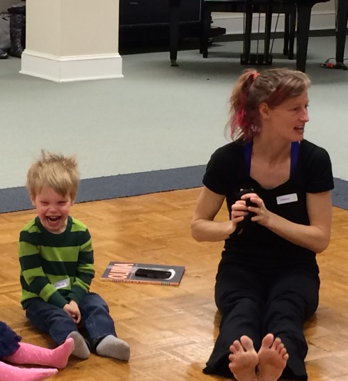 At a birthday party led by Sarah Gladwin, founder and teacher of ZoomDance