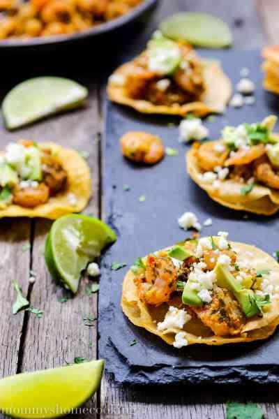 Chimichurri Shrimp and Avocado Mini Tostadas + Giveaway