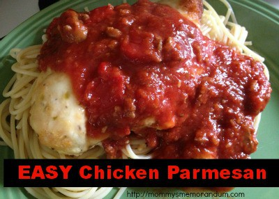 Easy Chicken Parmesan Recipe