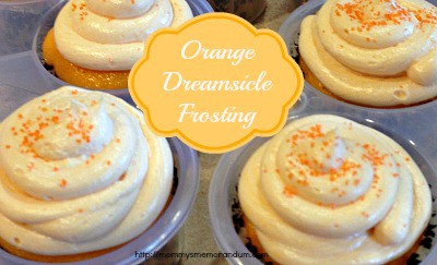 Orange dreamsicle frosting recipe