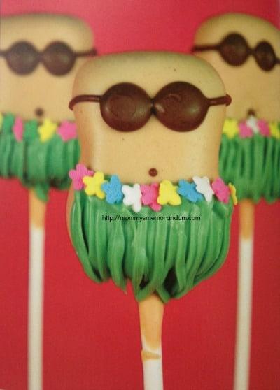hula cake pops