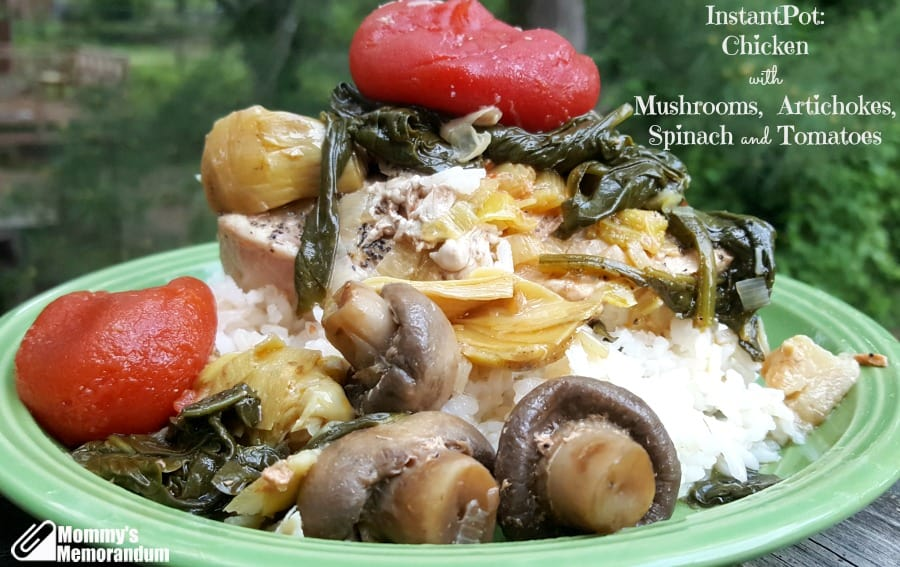 InstantPot: Chicken with Mushrooms and Artichoke Hearts #Recipe ...