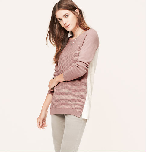 This fun sweater is also available in grey or beige. Was $59.50, now $35.70. Click photo to purchase.